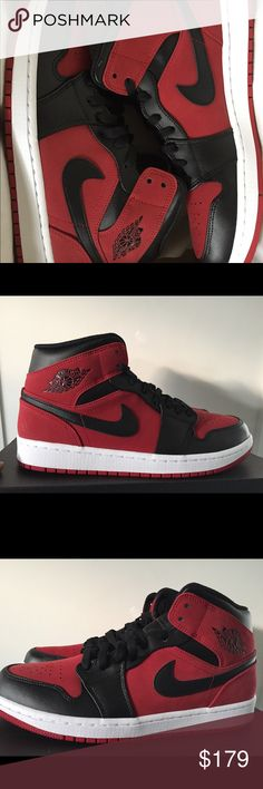 160dd5c9b11 The Air Jordan 1 David Letterman Is Available Below Retail. See more. Air  Jordan 1 Mid Gym Red Black White Brand new with original box size 9.5,