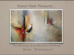 comment faire une peinture abstraite acrylique demonstration vidéo HD YouTube - YouTube