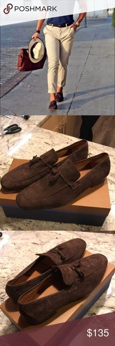 BRAND NEW Broletto loafers -brown suede Mr. Garner BRAND NEW IN BOX Broletto loafers / slip ons /  - brown suede with tassels! (Mr. Garner) size 14 men. NEVER WORN! make an offer! Broletto Shoes Loafers & Slip-Ons