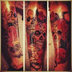 Front leg Piece Tattoo - http://99tattooideas.com/front-leg-piece-tattoo/ #tattoo