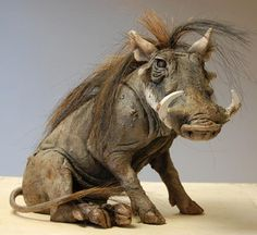 Nick Mackman Animal Sculpture  Warthog sculpture. This wartie is off to the States today. My client has named him 'Gildersleeve' after a character in a 1940/50s' radio comedy on NBC. Love it! :)  http://clayanimalsculptures.co.uk/project/warthog-sculptures,https://fbcdn-sphotos-g-a.akamaihd.net/hphotos-ak-snc7/421902_486496441411901_5810716_n.jpg