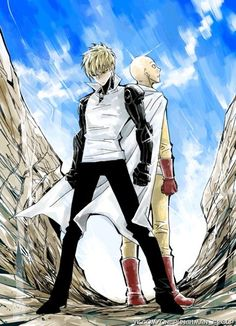 One Punch Man - Genos & Saitama Anime One Punch Man, One Punch Man 3, One Punch Man Funny, Saitama One Punch Man, Genos X Saitama, Manga Anime, Anime Art, Male Figure, Guy Pictures