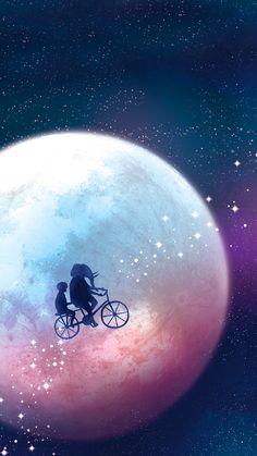 iphone wallpaper 1920 x 1080 Secret moonlight illustration by Nature Culture