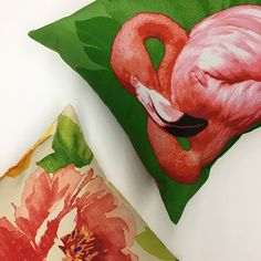 You can't go wrong with flamingos and floral! These outdoor accent pillows are available individually