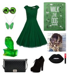 """Dress #16"" by ralucastephany ❤ liked on Polyvore featuring New Look, Bling Jewelry, Chanel, Lime Crime and Daum"
