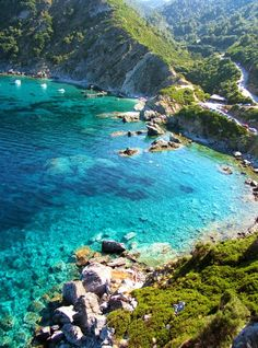 #Skopelos Island, #Greece - as taken from halfway up to the #MammaMia chapel
