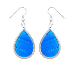 Real Butterfly Wing Sterling Silver Earrings  Blue Butterfly Handmade Earrings For Women Handmade Jewelry Sterling Silver *** You can find more details by visiting the image link. (This is an affiliate link) #Earrings