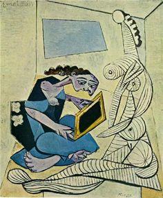 Woman in the interior - Pablo Picasso