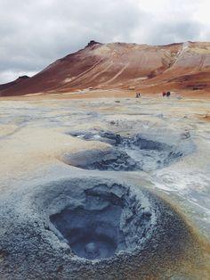 Hverir geothermal field in Iceland