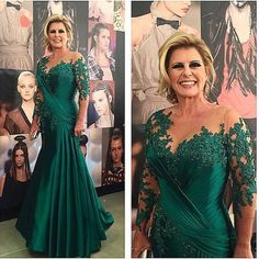 Dark Green Mermaid Mother Of The Bride Dresses For Wedding Floor Length Women Evening Dress Long Vestidos Para Mae Da Noiva $135