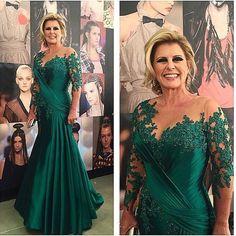 Dark Green Mermaid Mother Of The Bride Dresses For Wedding Floor Length Women Evening Dress Long Vestidos Para Mae Da Noiva $135