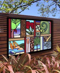 Sarah C | Word Art | Outdoor Art | Kiwiana Art | Garden Art | Corrugated Iron Art | New Zealand Art