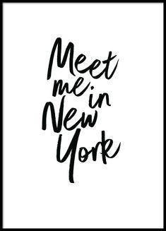 Meet me in New York  Poster in der Gruppe Poster / Größen und Formate / 30x40cm bei Desenio AB (2254)