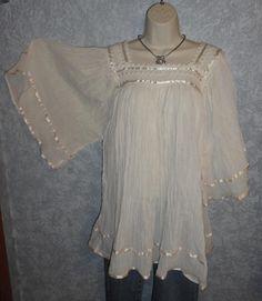 boho blouses | Hippie Gauze Blouse Mexican Blouse 60's Retro | eBay