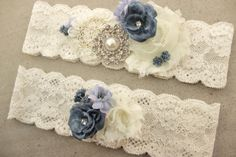 Hey, I found this really awesome Etsy listing at https://www.etsy.com/listing/238362153/something-blue-garter-dusty-blue-wedding