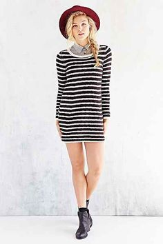 love anything striped! sweater dress