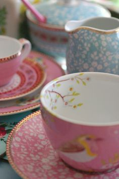 so sweet.  Lenox for tea parties - and mama will steal for her coffee because they just make me smile!