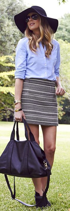 Rags To Riches - Grey And White Tribal Jacquard Print Mini Skirt- ♔LadyLuxury♔