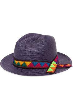 Sensi Studio - Embroidered toquilla straw Panama hat. Gorras BordadasSombrero  PanamáEstudio De ModaSombreros De VeranoAzul Marino 4c3663921a3
