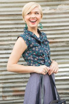Mata Traders Tied and True Floral Top | Fair Trade Fashion | Available at beadandreel.com