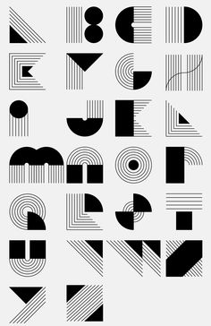 A super cool alphabet Alphabet Design, Schrift Design, Geometric Type, Corporate Identity Design, Art Graphique, Typography Letters, Calligraphy Fonts, Grafik Design, Cool Fonts