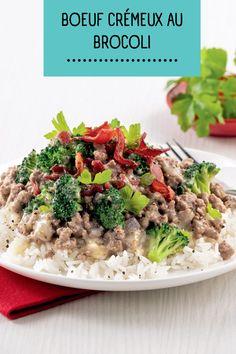 On a toujours besoin de nouvelles idées pour cuisiner le boeuf haché, et on a souvent une canne de crème de brocoli condensée qui traîne dans le garde-manger. Ce boeuf crémeux au brocoli est facile à préparer et tellement savoureux: à mettre sur votre menu de semaine! Vegetable Recipes, Menu, Vegetables, Ethnic Recipes, Food, Meat, Shredded Beef, Pie Safe, New Ideas