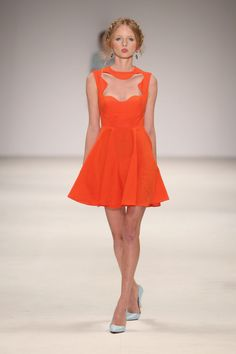 On-trend orange cocktail dress by Alice McCall - photo by Lucas Dawson