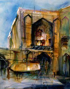 acidadebranca:    ARCHITECTURAL COLOR SKETCHES | 774 |Behzad Bagheri|SOURCE
