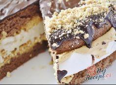Dortík s mascarpone krémem a ganache polevou Dessert Blog, Dessert Recipes, Sweet Desserts, Sweet Recipes, Torte Recipe, Cake Decorating Tips, Pavlova, Graham Crackers, Nutella