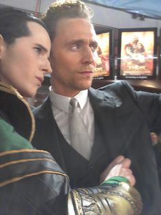 221blueberrys:  Picture of Fahr and Tom I took at the Thor premiere in Berlin, they're both amazing !