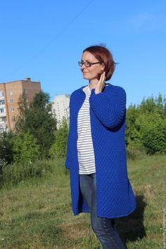 Купить Кардиган ВАСИЛЕК - свитер вязаный, свитер спицами, вязаная одежда, вязание на заказ