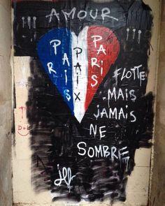 Le street art envahit les rues de Paris après les attentats - Elle