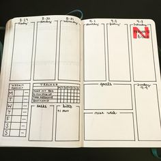 New spread for next week. Let's see how it feels! #bulletjournal…