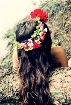 Great Floral HeadBand Perfect For The Festval Season. #festival #hair #thisfestfeeling