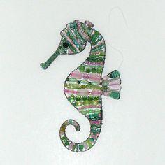 Suncatcher Beaded Seahorse by Craftymoose on Etsy
