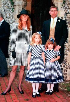Prince Andrew and Dutchess of York with daughters Eugenia and