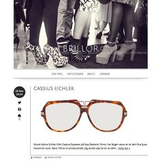 With love from #Sweden! Thanks to Asa from the #Brillor blogg for the #cassiuseyewearco EICHLER feature! #cassiuseyewear #eyewear #eyeglasses #glasses #optical #sunglass #sunglasses #handmade #limitededition #newzealand #swedish #optician #optometrist #eichler #midcentury #retro #vintage Optician, Eye Glasses, Sweden, Eyewear, Retro Vintage, Sunglasses, Handmade, Instagram, Style