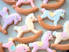かわいいお菓子 micarina. Cute idea for baby shower cookies.