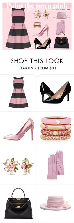 """""""Sweet Old-fashioned Girl"""" by dundiddit ❤ liked on Polyvore featuring Luxe, BCBGeneration, Charlotte Russe, Adolfo Courrier, Betsey Johnson, Forzieri, Fendi, Gigi Burris Millinery, contestentry and under100"""