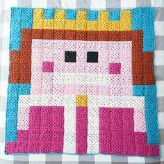 Princess pixel plaid. - Aline au pays des mailles ...