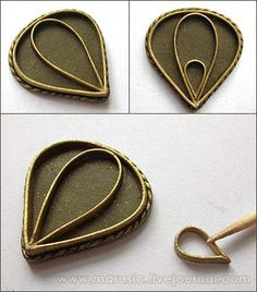 Russian tutorial for a filigree pendant.  Uses polymer clay.  Gorgeous results - but pretty sure I don't have the patience :(