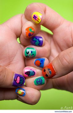 Colorful nails..adorkable