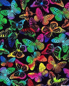 Trippy Wallpaper, Cute Wallpaper Backgrounds, Print Wallpaper, Colorful Wallpaper, Aesthetic Iphone Wallpaper, Cartoon Wallpaper, Cute Wallpapers, Rainbow Butterfly, Butterfly Art