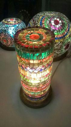 Lámparas. Mosaico en vidrio. Ser Hecho a Mano