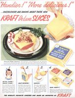 Kraft Deluxe Cheese Slices 1951 Ad Picture