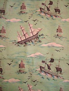 Vintage ship fabric.