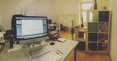 Noch nicht ganz fertig aber wir haben das Büro wieder etwas umgebaut :) Jetzt hab ich meinen ganz eigenen Bereich  by kacy - makeup & photo