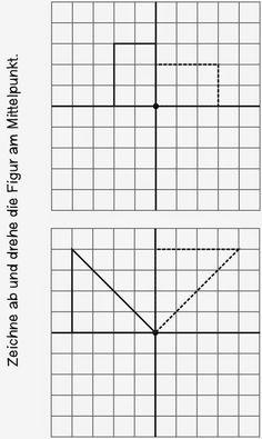 Lernstübchen: erste Arbeitsblätter für die Drehsymmetrie...