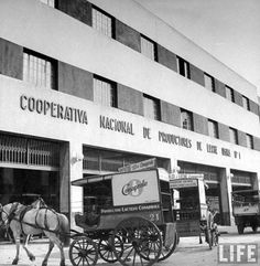Conaprole, Productos Lacteos - Montevideo,  antiguo carro con el que se repartía la leche de la Cooperqtiva Nacional de Productores de Leche