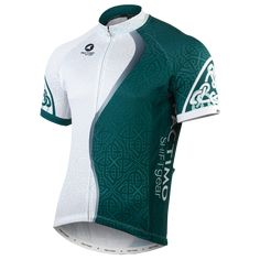 Designer Cycling Jersey - Celtic Green - Men's $95.00 Bike Wear, Cycling Wear, Cycling Jerseys, Cycling Outfit, Cycling Clothing, Workout Attire, Sport Wear, Apparel Design, Celtic Green